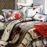 סט מצעים למיטה מיתכווננת מבד סאטן כותנה בצפיפות גבוהה במבצע דגם פריז